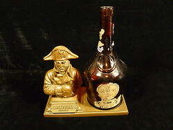 Vintage W.a. Taylor Bronzed Napoleon Cognac Stand Includes Old B And B Dom Bottle