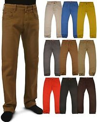 BNWT: MENS sizes32-42 FASHION COLORED STRAIGHT SLIM-FIT DENIM JEANS PANTS  #730 $18.99