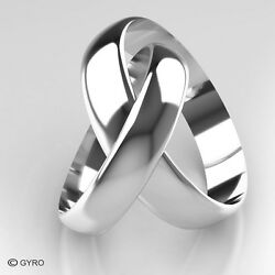 White Gold Premium Quality His And Hers Set Of Wedding Rings 4mm And 5mm Width