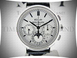 PATEK PHILIPPE 5270 G GRAND COMPLICATION MOONPHASE 18K WHITE GOLD DAYNIGHT BNIB