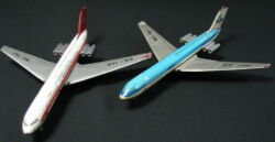 VINTAGE LOT KLM&INTERCONTINENTAL GERMAN IL-62 GERMANY TIN AIRPLANES FOR PARTS!