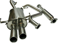 Catback Exhaust System For Nissan Maxima 00-03 V6 Dual Tip Stainless Steel
