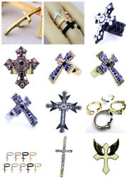 Vintage Retro Antique Style Cross Ring Multiple Choices
