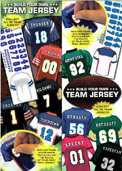 2 Nfl Football Build Your Team Jersey Stickers 3x3.5 Add Your Name And Number