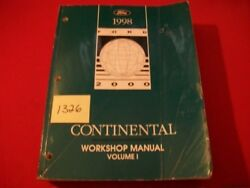 1998 LINCOLN CONTINENTAL ORIGINAL FACTORY REPAIR & SERVICE WORKSHOP MANUAL SET