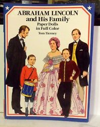 1989 Abraham Lincoln And Family Papeer Doll Book