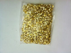 1000 Grommets Brass Metal 2 3/9 Eyelet With Washers For Hand Press