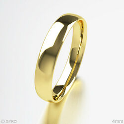 Brand New 18ct Yellow Gold Premium Quality Court Shaped Wedding Band Rings