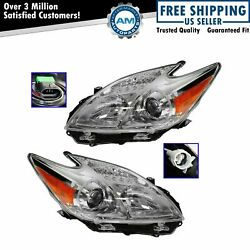 Headlight Headlamp Halogen Lh And Rh Pair Driver And Passenger Set For Toyota Prius