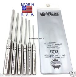 Wilde Tool 6pc Professional Roll Pin Spring Punch Set Made In Usa W Case
