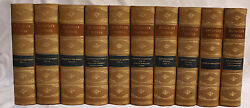 Magnificent 10 Volume Leather Bond Carlyleand039s Works Circa 1831 Books
