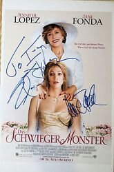 Elaine Stritch And Jane Fonda Signed Monster In Law 11x17 Poster. Exact Proof