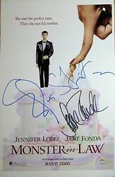 Elaine Stritch And Jane Fonda Signed Monster In Law 11x17 Poster @ Video Proof