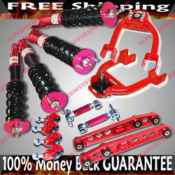 92-95 Civic 93-97del Sol Camber Kits 16 Way Damper Coilover Lower Control Arm