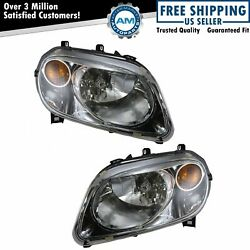Headlights Headlamps Left And Right Pair Set New For 06-11 Chevy Hhr