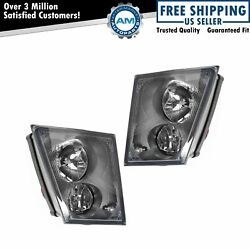 Driving Fog Lights Lamps Pair Set Lh Left And Rh Right For Volvo Truck Vnl Vnm