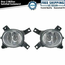 Fog Driving Lights Lamps Left Lh And Right Rh Pair Set For Audi S4 A3 A4 Rs4