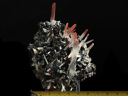 7.4Lbs Black  Hematite & Red Quartz Cluster Mineral From Jinlong Mine China!