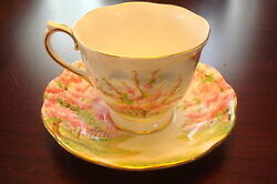 Royal Albert Cup And Saucer Made In England, Blossom Time Pattern[a5-b2]
