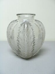 Authentic R. Lalique Chardons Frosted And Clear Vase
