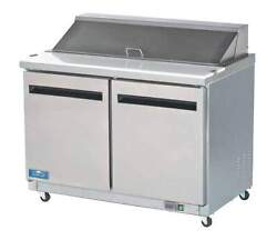 Arctic Air Amt48r 48 2-door Commercial Megatop Sandwich And Salad Prep Table New