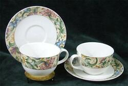 Pair Of - Royal Doulton - Everyday - Jacobean - Cup's And Saucer's - 1996