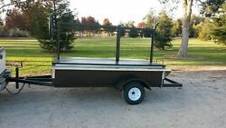 Santa Maria Trailer BBQ Pit Grill 8x4 feet long with 2 stainless cutting boards