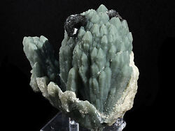 Hematite Crystals And Green Castle Quartz Mineral From Inner Mongolia China