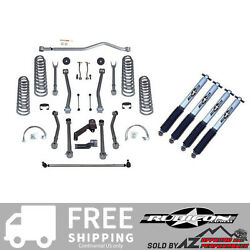 Rubicon Express 4.5 Super-flex Short Arm Kit W/ Mono Tube Shocks 07-18 Jeep Jk