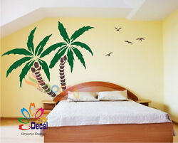 Wall Decor Decal Sticker Removable Palm Trees 72quot;H x 83quot;W 2 colors DC0116