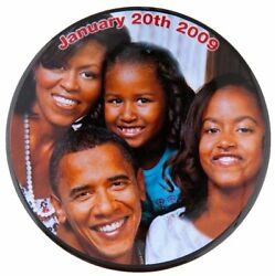 """Obama Family """"january 20th 2009"""" Numbered 67 Of 100 Made Inauguration Button."""