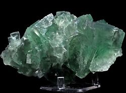 1.36lbs Perfect Green Fluorite Mineral Display Specimen From Hunan China
