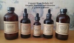 Elecampane Herbal Tincture Extract, 2, 4, 8 Oz, Made In Maine