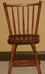 Scarce 1960and039s Mickey Mantleand039s Country Cookinand039 Wooden Guest Chair Tag On Bottom