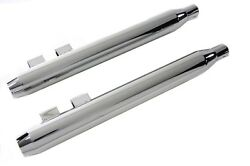 Chrome Muffler Set With Short Tapered End Tips 4 Harley