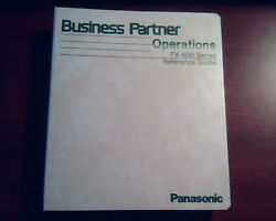 Panasonic Business Partner Operations Fx-600 Series Reference Guide Binder Disc