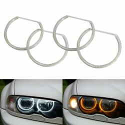Switchback Dual-Color LED Angel Eye Halo Rings For BMW 3 5 7 Series Headlight