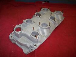 Vintage 1960and039s Moon 8 X 1 Weber Down Draft Bbc Rect Port Intake Manifold 396 427
