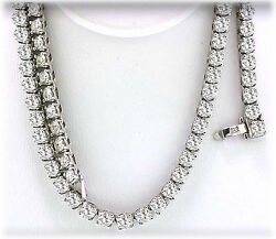 80 carat Round DIAMOND Tennis Necklace H-I color 158 x .50 ct 70 grams 34