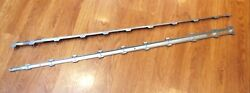 1957 Chevy Crown Top Fin Molding Inserts With Pins New Pr Usa Made