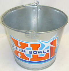 Collectible Super Bowl Xli 41 Ice Bucket Tin Can Budweiser Beer Picnic Bbq Party