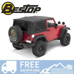 Bestop Supertop Nx Tint No Doors For 07-18 Jeep Wrangler Jk 2 Door Black Diamond