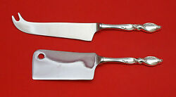 Silver Swirl By Wallace Sterling Silver Cheese Srvr Serving Set 2pc Hhws Custom