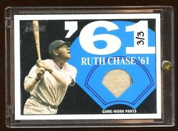 Babe Ruth 2010 Topps Heritage Game Worn Pants D 3/3 1/1 Pinstripes 2 Color Hof