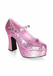 Funtasma MARYJANE-50G 4 Inch Heel Single Strap Glitter Finish Mary Jane Shoe