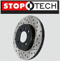 Rear [left And Right] Stoptech Sportstop Drilled Slotted Brake Rotors Str37002