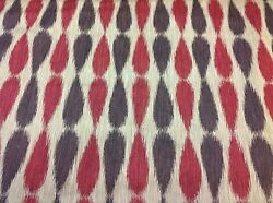 Lee Jofa/groundworks Upholstery Fabric- Ikat Drops/red 5.50 Yds Gwf-2927.910