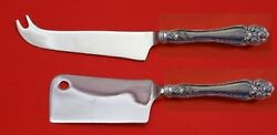 American Beauty Rose By Holmes And Edwards Plate Silverplate Hhws Cheese Set 2 Pc