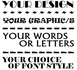 Custom Create Your Own Design Vinyl Graphic Decal / Sticker Any Words/image