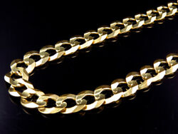 Mens Solid 10k Yellow Gold 11.5 Mm Cuban Curb Link Chain Necklace 20-30 Inches
